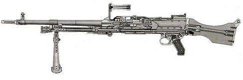 La Mitrailleuse d'Appui Général développée en 1958 (M.A.G 58) de chez FN HERSTAL,remplaçante de la AANF 1,de son vrai nom  AA 52 et pour les anciens la nana. Mag_5810