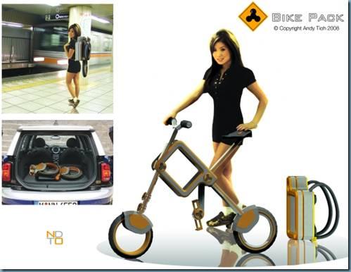 Bike Pack : la bici che si trasforma in zaino Bp110