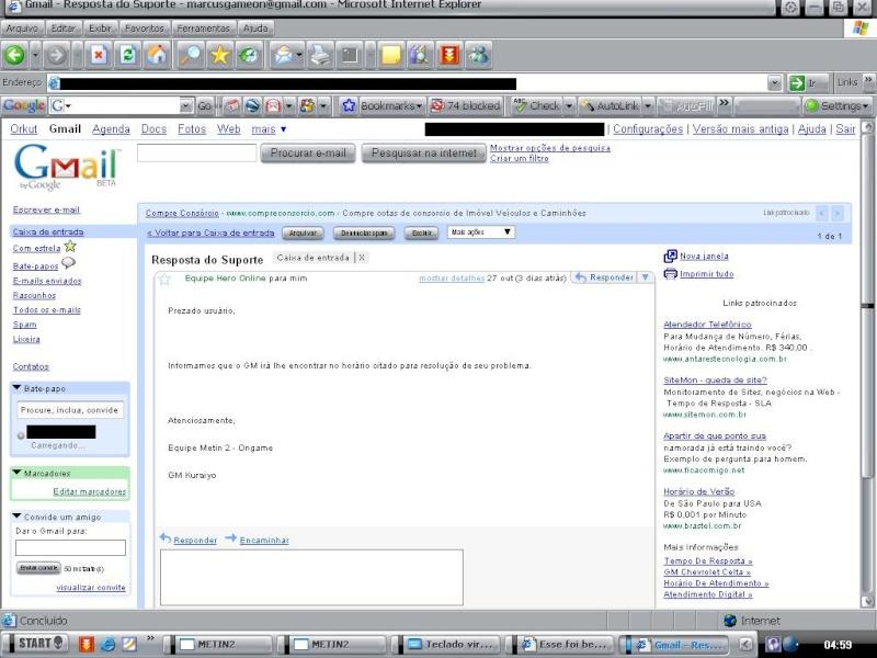 Esse foi bem sucedido ! Email11