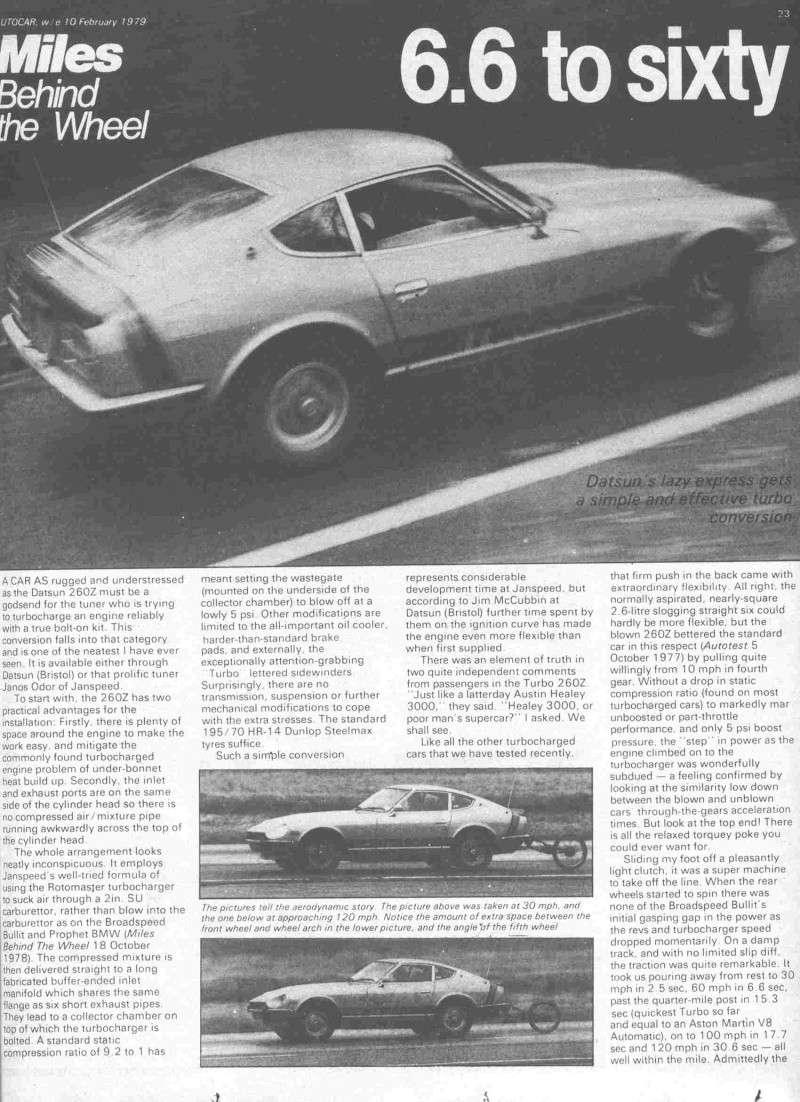 DATSUN 260Z 2+2 kit turbo Janspeed de 1977 (seule en France? Articl10