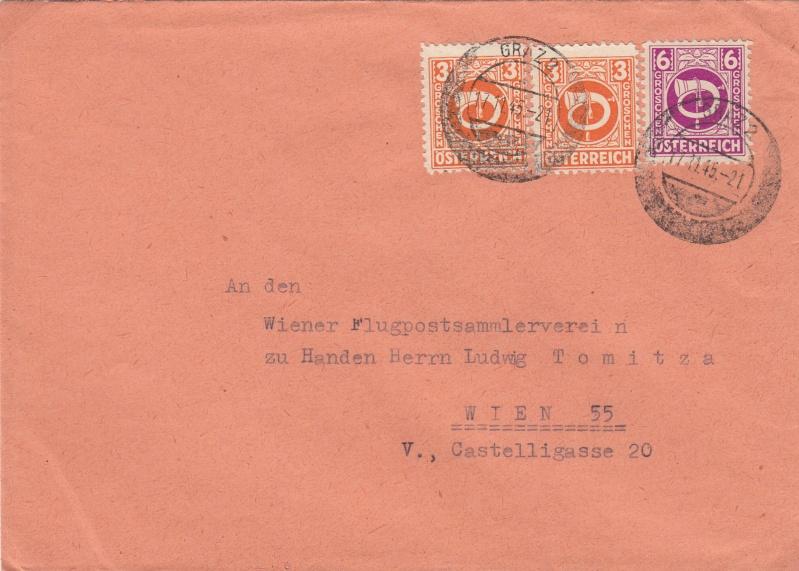 Posthornzeichnung  -  ANK 697-713  -  Belege Img20