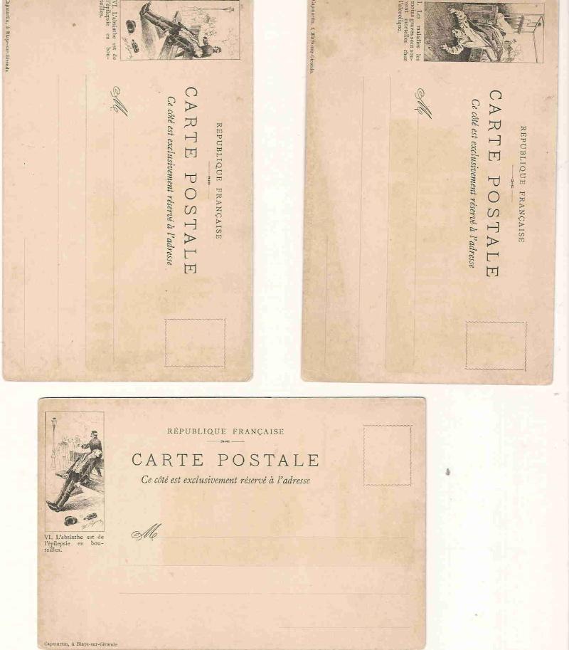 Publicité SUR les timbres .... Cartes10