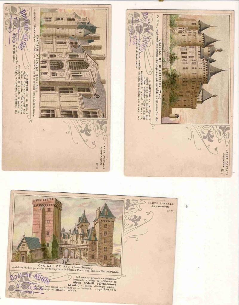 Publicité SUR les timbres .... Cp_cap10