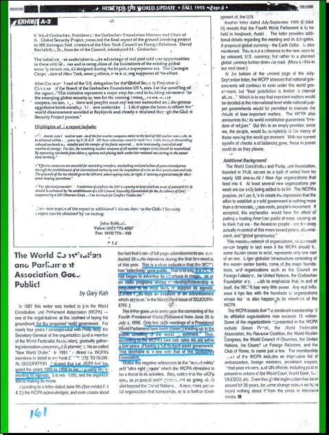 ONE WORLD CONSTITUTION - CONSTITION FOR THE FEDERATION OF EARTH (CFE) WILL REPLACE EVENTUALLY THE UNITED NATIONS CHARTER Pnypd125