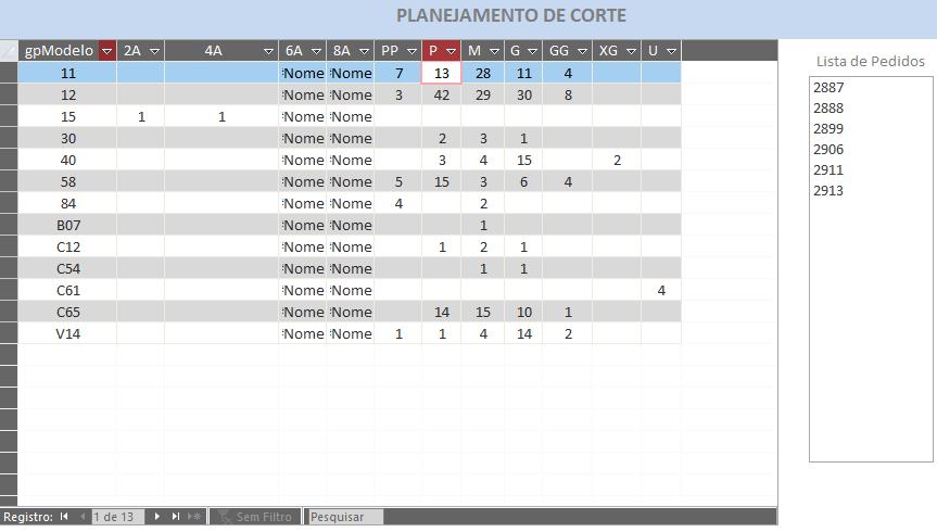"""Formulário e Consulta de """"Tabela de Referências Cruzadas"""" Erro_d10"""