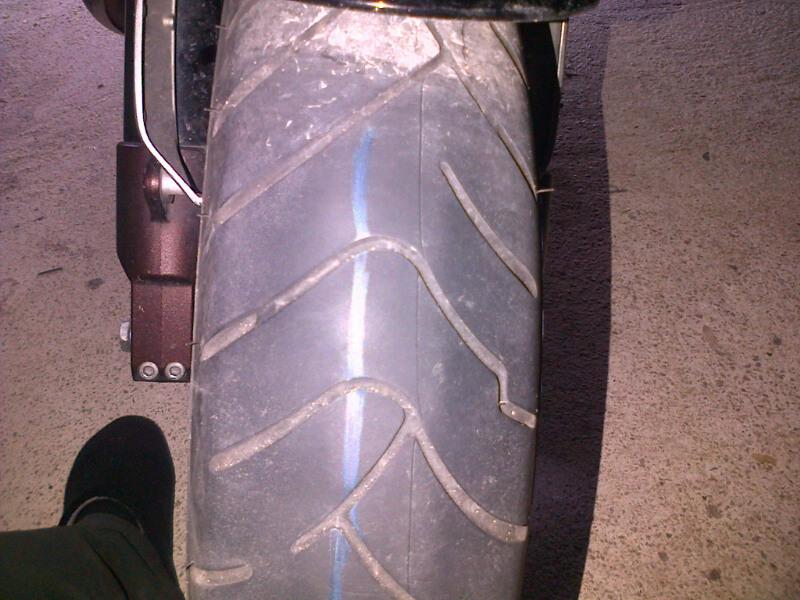 Usure du pneu avant Bridge10