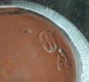 sgraffito pot, LJ mark and Star Trek mark - see John Solly  Sgraf110