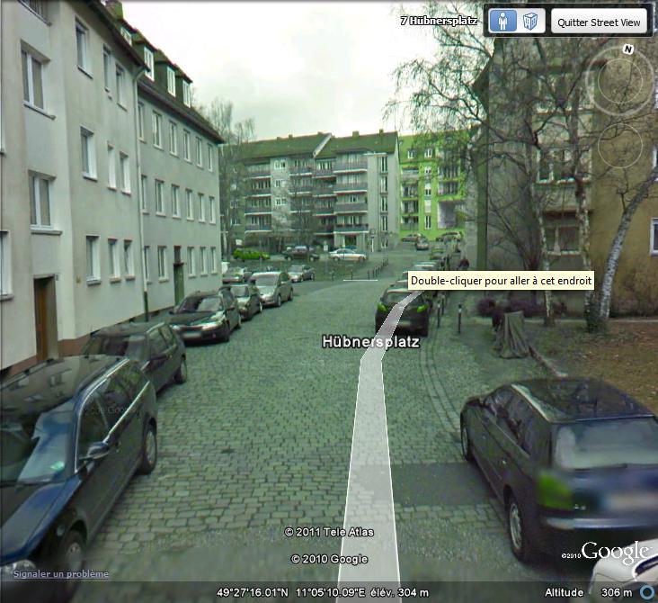 STREET VIEW : Bugs, collages, défauts dans l'image Vert10