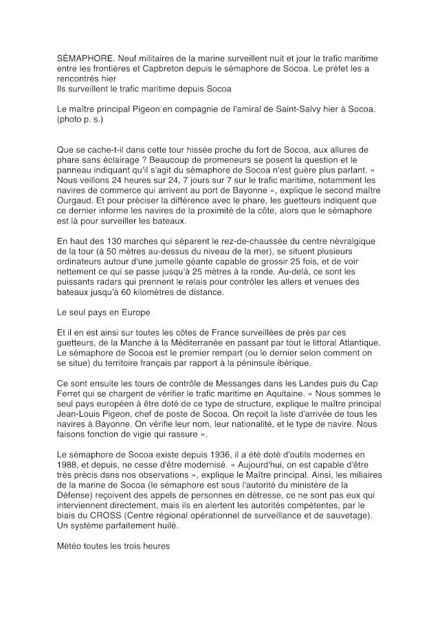 SÉMAPHORE - SOCOA (PYRÉNNÉES ATLANTIQUE) - Page 2 N111