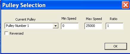Message de Mach3 : S trop lent, Vmin activée... Poulie10