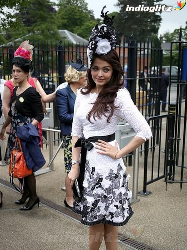 Aishwarya At Royal Ascot's Opening Day Ais20110