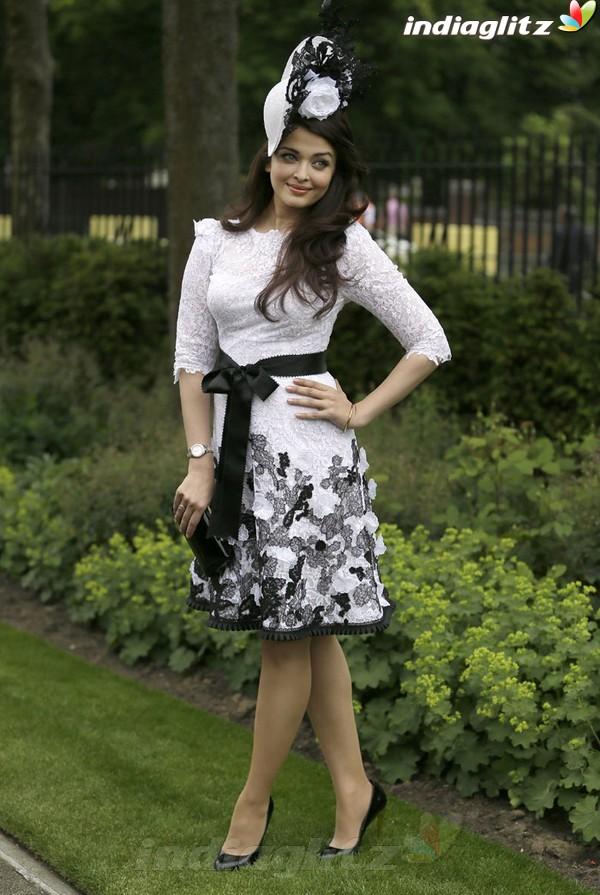 Aishwarya At Royal Ascot's Opening Day Ais20410