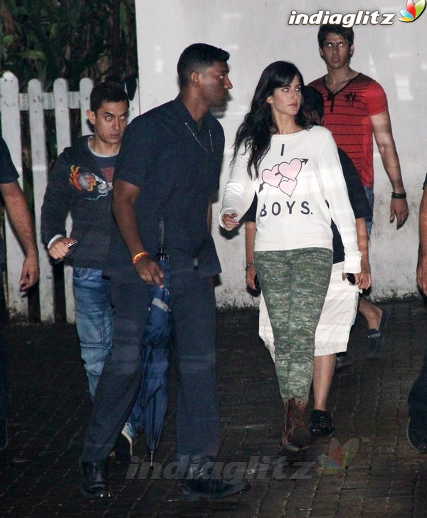 Aamir Khan & Katrina Kaif Spotted Together Dhoom110