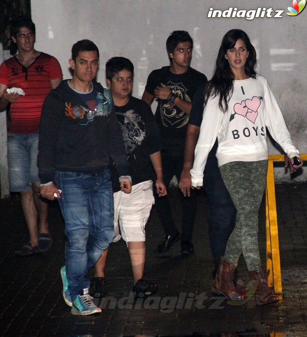 Aamir Khan & Katrina Kaif Spotted Together Dhoom112