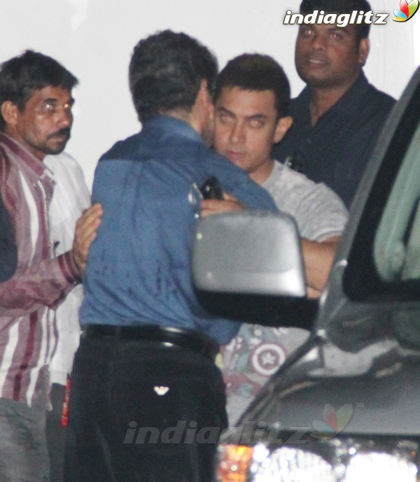 Aamir Khan & Katrina Kaif Spotted Together Dhoom113