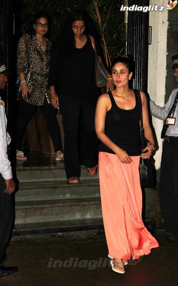 Kareena, Saif Dines With Alvira Khan Saif2010