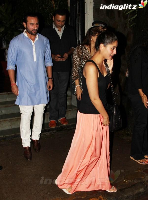 Kareena, Saif Dines With Alvira Khan Saif2014