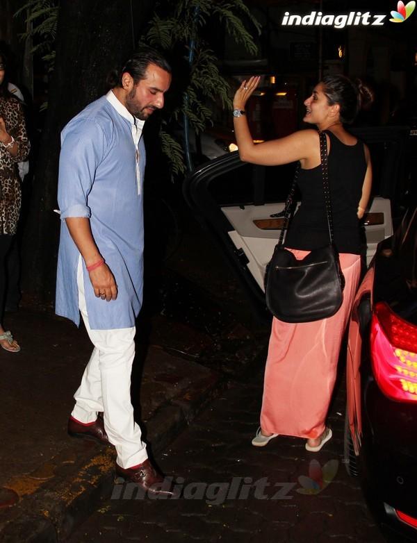 Kareena, Saif Dines With Alvira Khan Saif2015