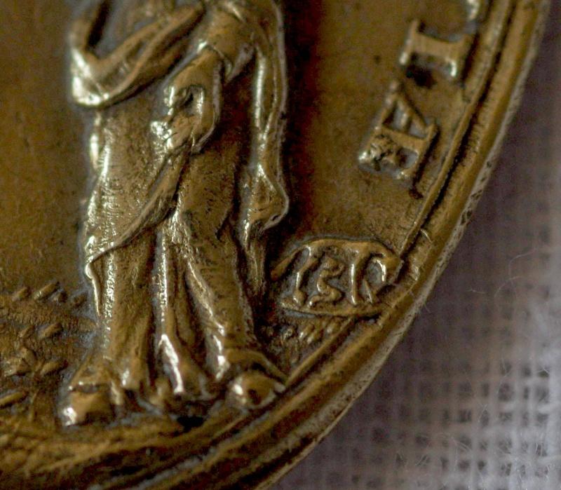 Superbe médaille St-Augustin - Atelier italien Hamerani - fin XVII/début XVIIIème M31010