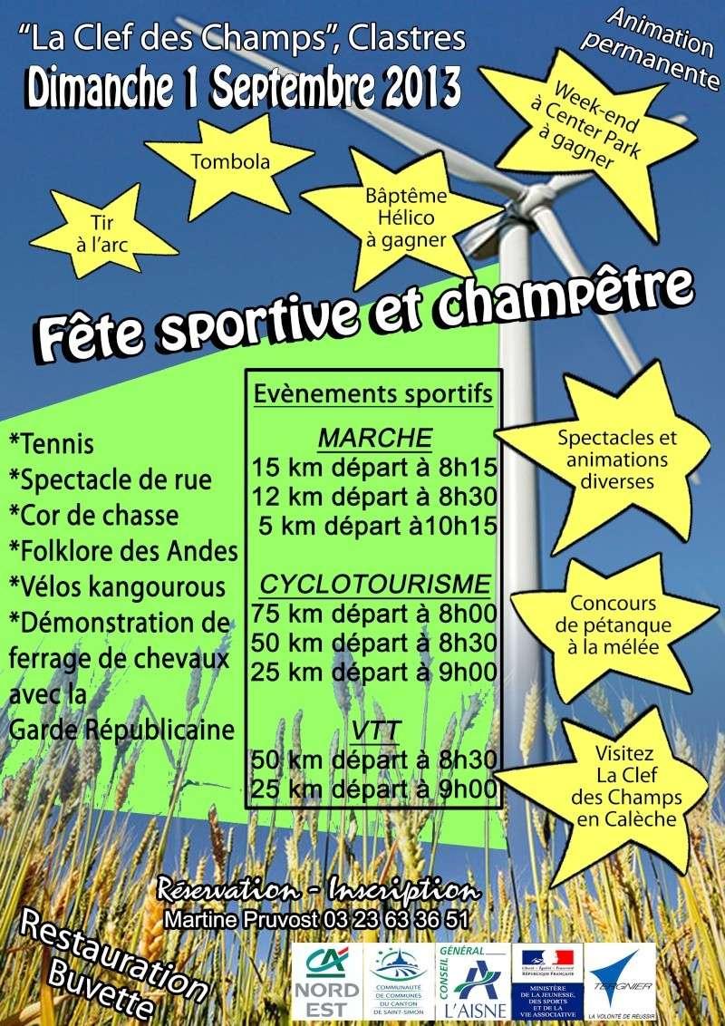 Fête du sport, Clastres 1er sept 2013 Lignee11