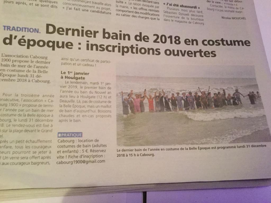 Dernier bain de l'année 31 /12/ 2018  à Cabourg et les  Photos 63615a10