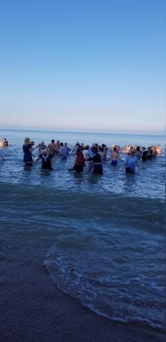 Dernier bain de l'année 2019, le 31 Décembre à Cabourg  8817cb10