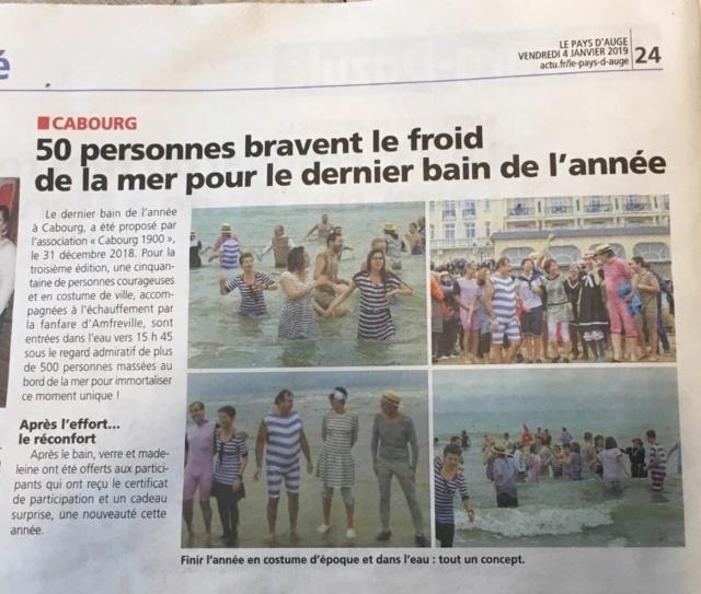 Dernier bain de l'année 31 /12/ 2018  à Cabourg et les  Photos Ab474710