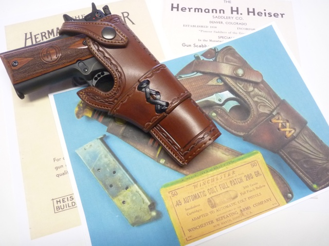 "HOLSTER  type ""HEISER"" by La SELLERIE P1110828"