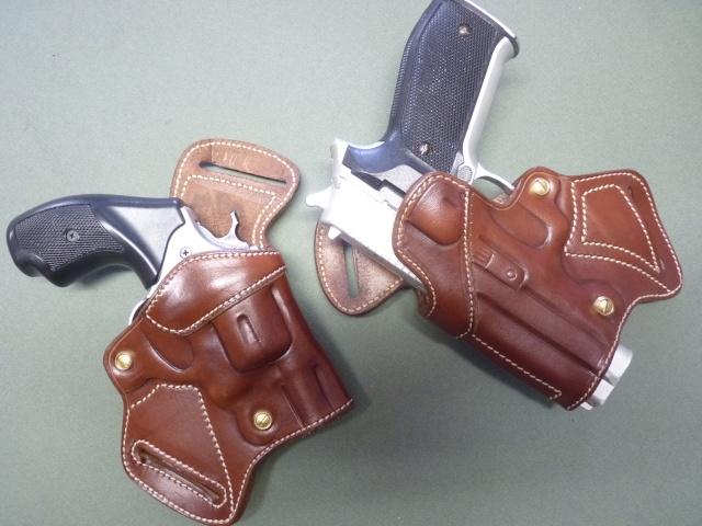 "S&W 60, SIG P 226, G17, S&W MP9 .... ""BACK to BACK"" Holsters by SLYE P1110928"
