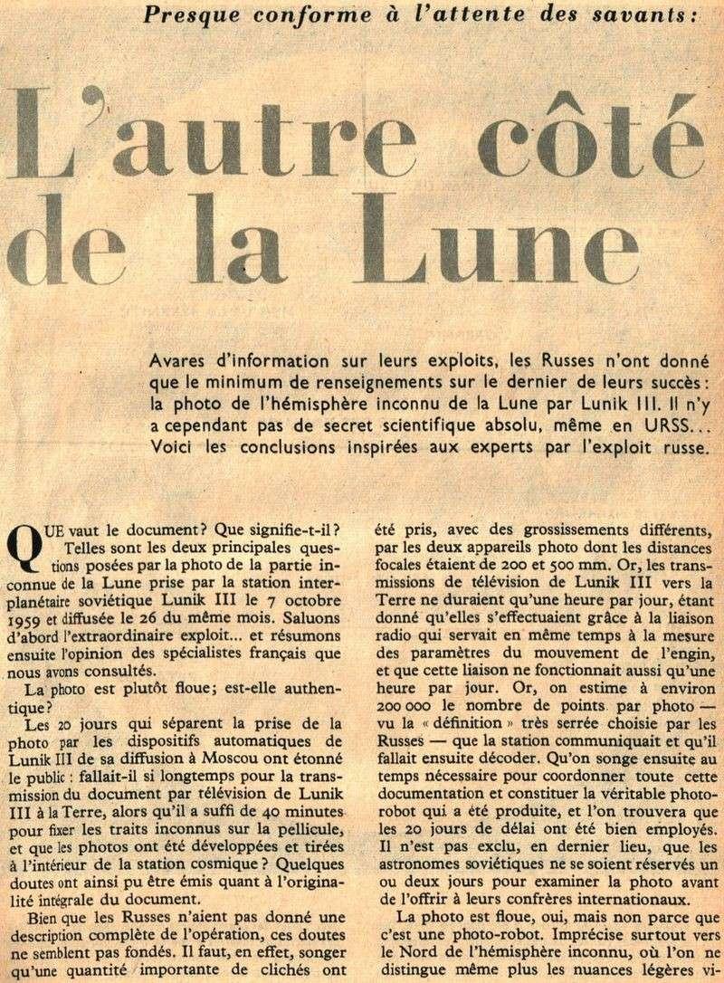 4 octobre 1959 - Lunik III - 1ères photos de la face cachée 59120010