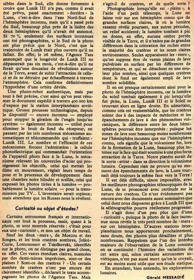 4 octobre 1959 - Lunik III - 1ères photos de la face cachée 59120013