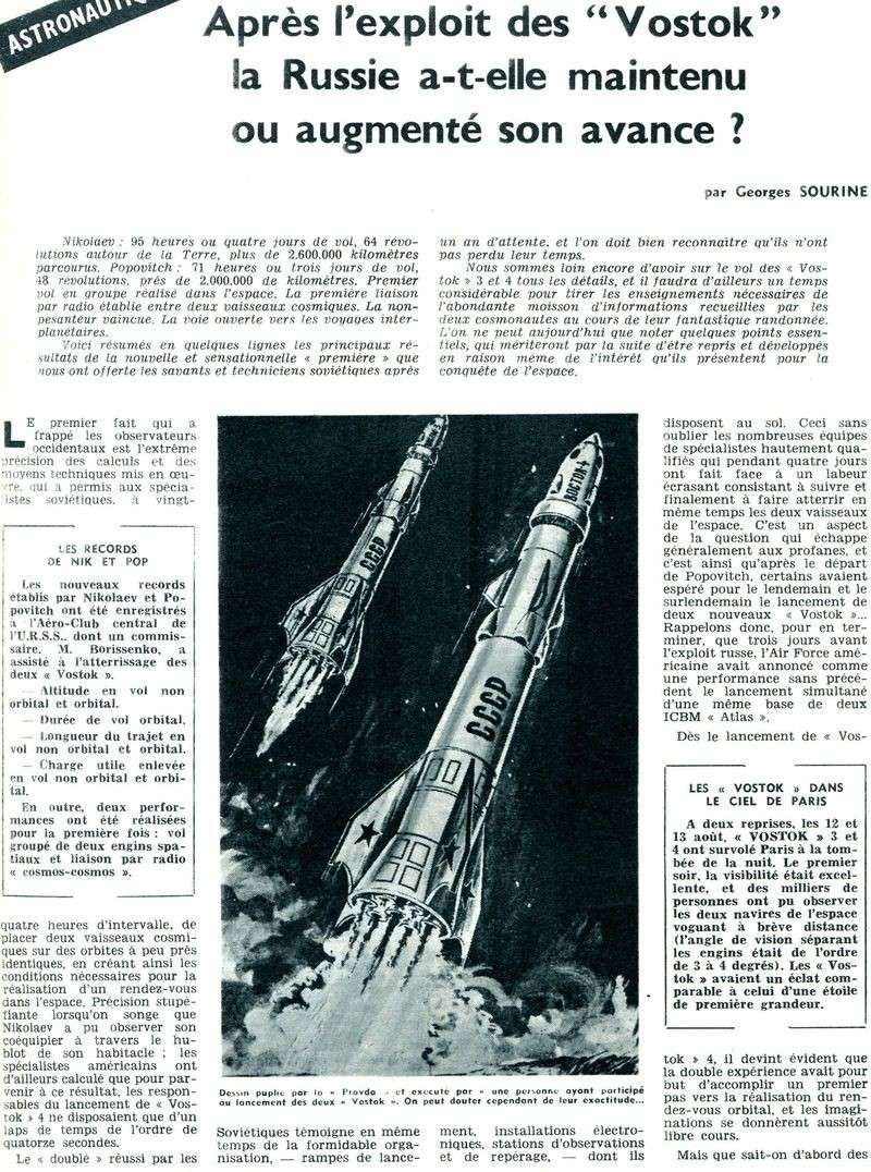Vostok 3, Vostok 4 - 11, 12 août 1962 - 1ers vols groupés 62090110