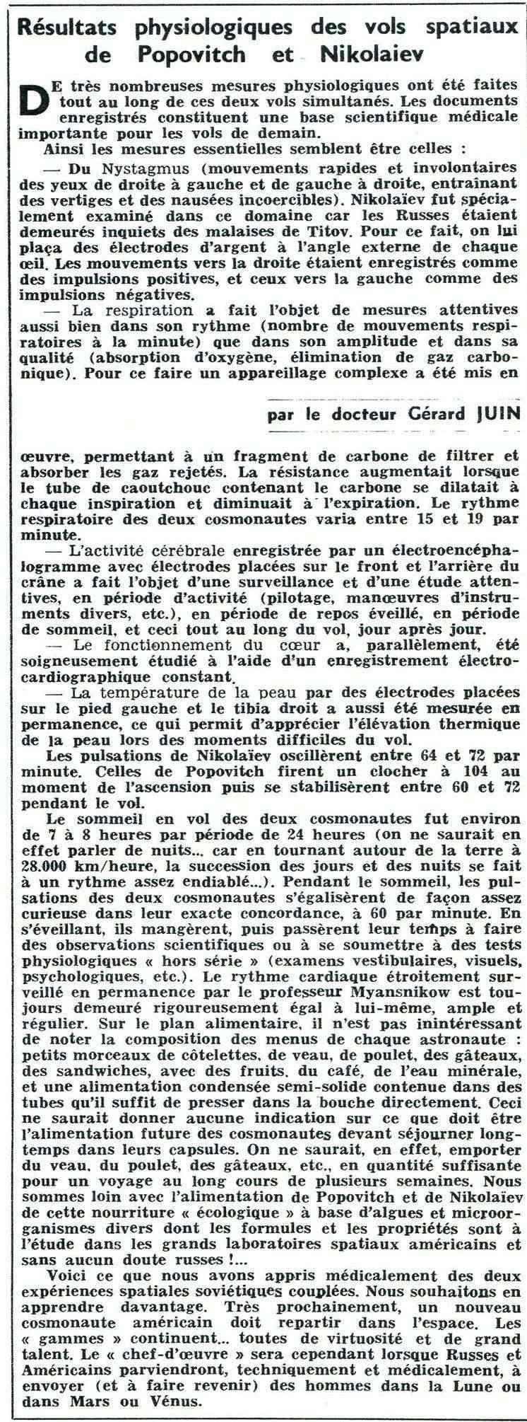 Vostok 3, Vostok 4 - 11, 12 août 1962 - 1ers vols groupés 62100111
