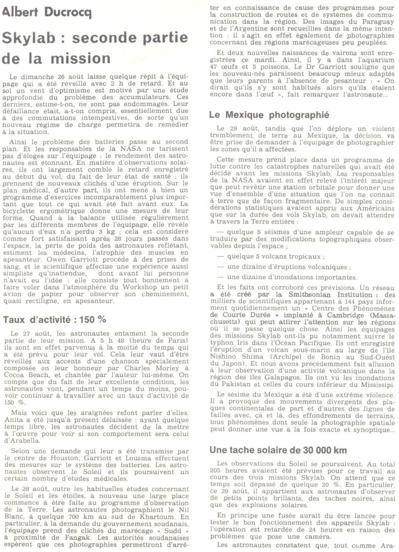 14 mai 1973 - Skylab - Seule station spatiale américaine - Page 2 73092910