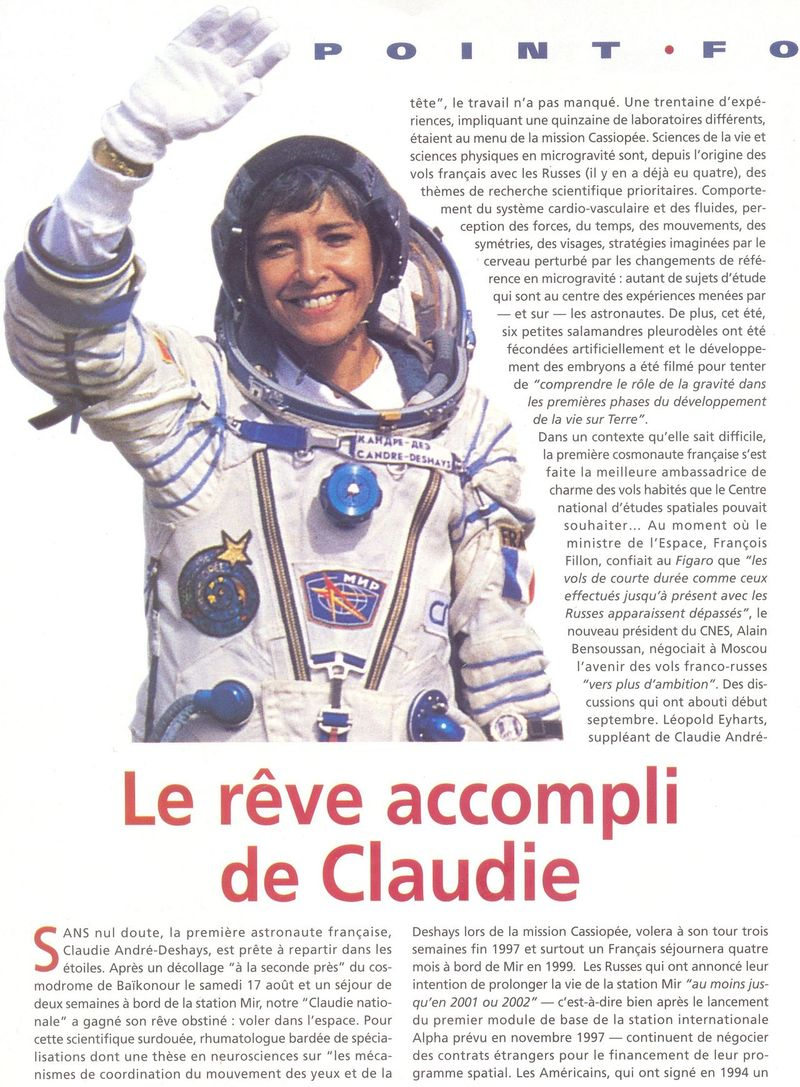 Claudie Haigneré - 1ère Française dans l'espace - Page 2 96100010