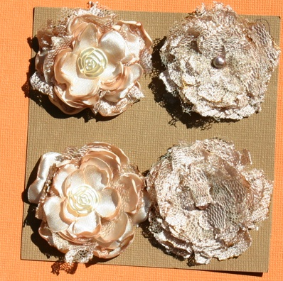 Satin/Lace Flowers Coffee10