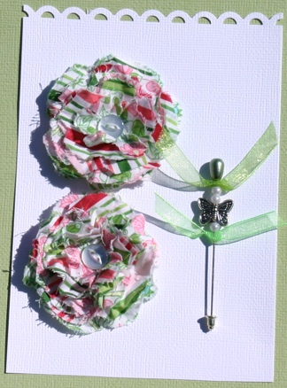 Fabric Flowers with Stick Pins Green_10