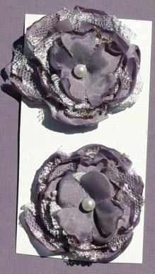 Satin/Lace Flowers Mauve_10