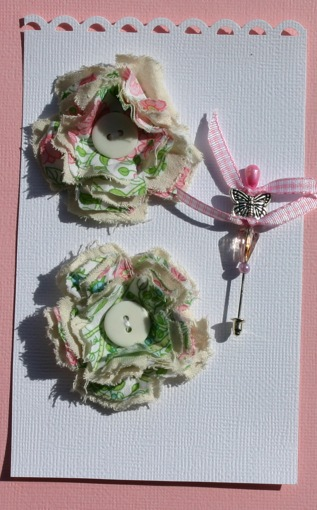 Fabric Flowers with Stick Pins Pictur19