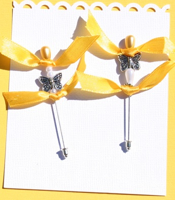 Stick Pins Yellow10