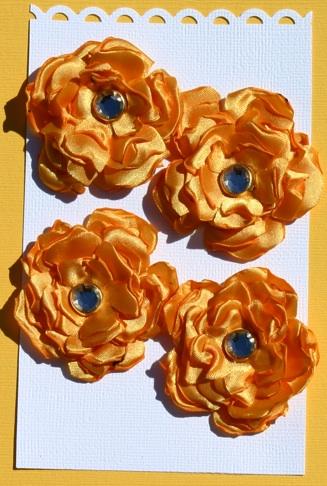 Satin Flowers Yellow11