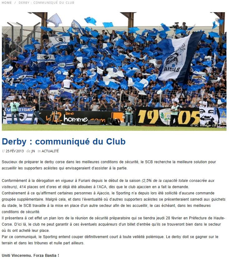SC Bastia 1-0 AC Ajaccio S46