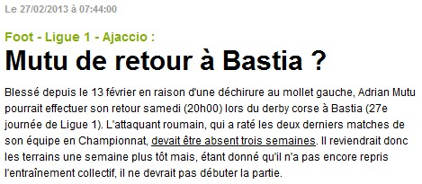 SC Bastia 1-0 AC Ajaccio S50