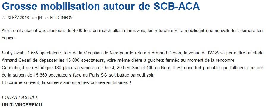 SC Bastia 1-0 AC Ajaccio S52