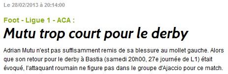 SC Bastia 1-0 AC Ajaccio S54