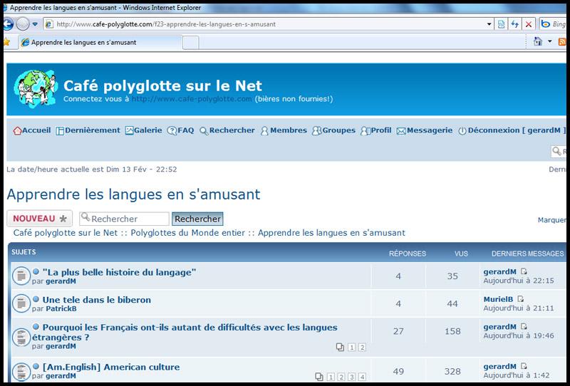 """PRESENTATION : Les clubs, cafés, cercles polyglottes """"in live or on line"""" Sans_t15"""