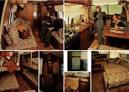 Un bel exemple: le motorhome GMC des années '70 Interi10