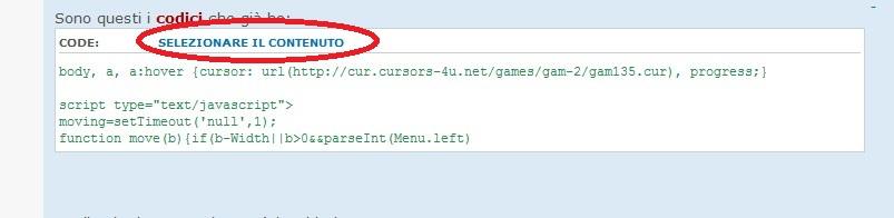 Come selezionare il testo con un click nei codici Srfile11