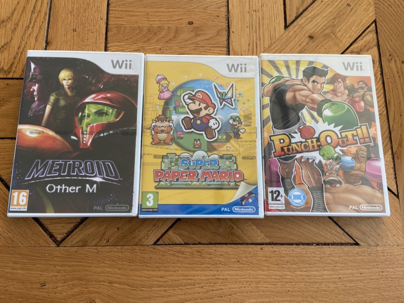 [VDS] Lot blister Wii (Paper Mario metroid other m et punch out) 19b3df10