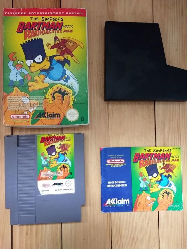 La boutique de vente de Riu : Ajout  Wii blister et Bartman NES 51446510